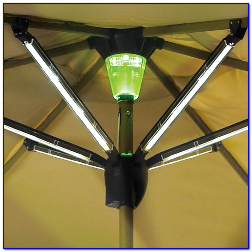 Patio Umbrella With Solar Led Lights