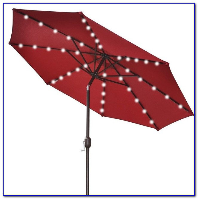 Patio Umbrella With Solar Lights And Speakers