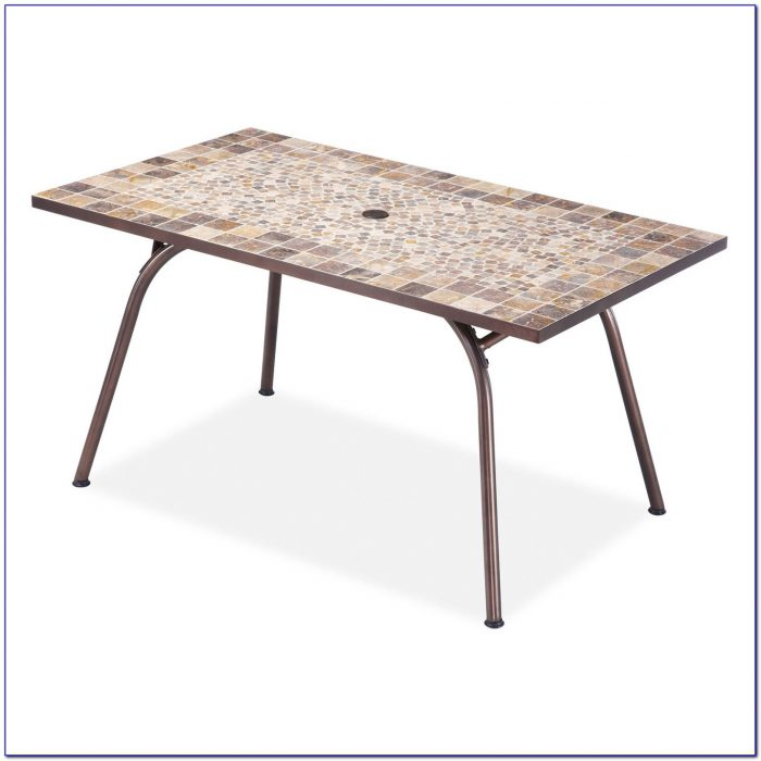 Rectangle Patio Table With Umbrella Hole