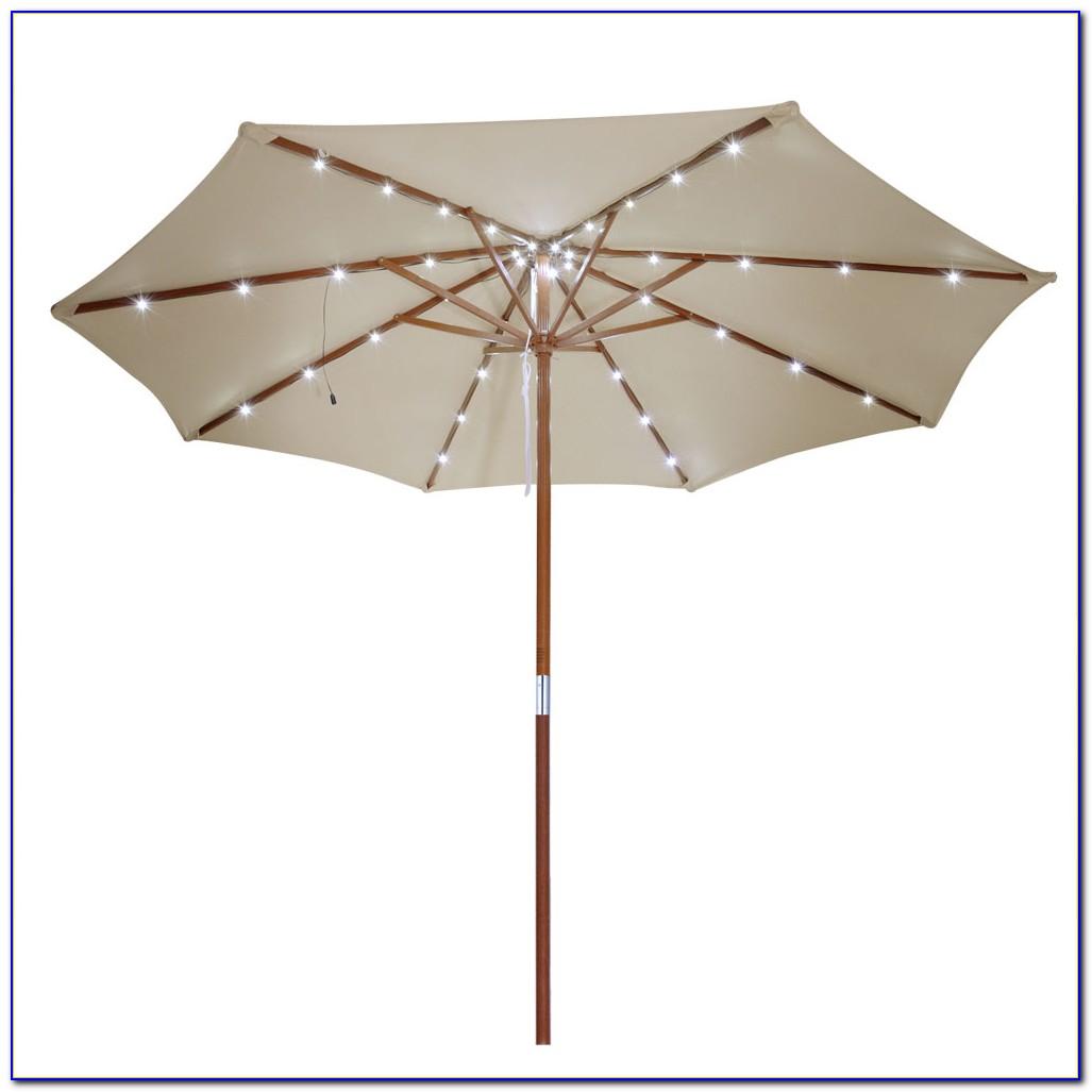 Rectangle Patio Umbrella With Solar Lights