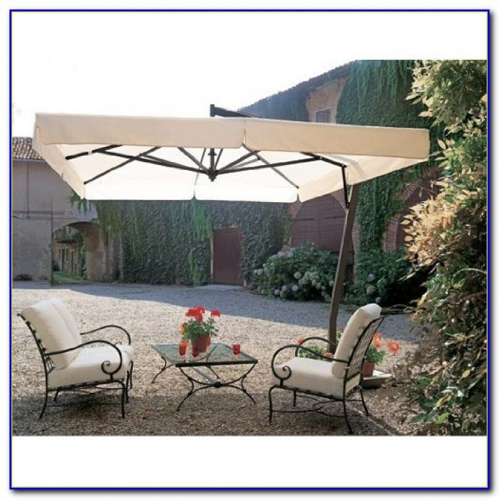 Rectangular Patio Umbrella With Led Lights