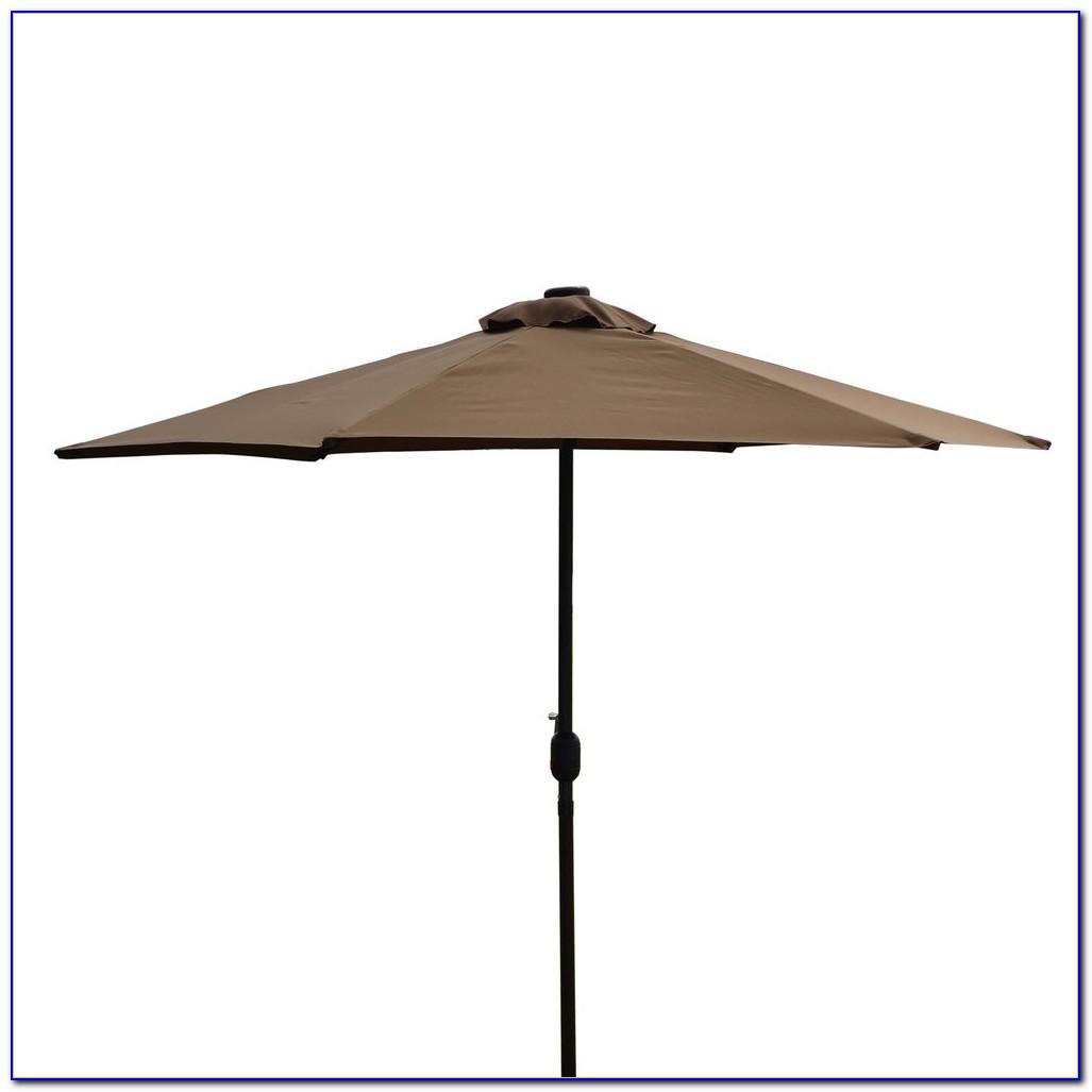 Rectangular Patio Umbrella With Solar Lights