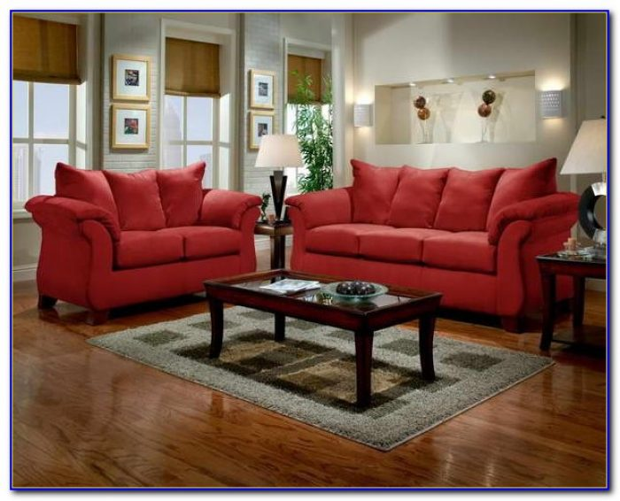 Red Couches Living Room