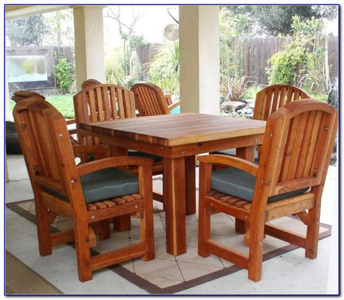 Redwood Patio Furniture Care