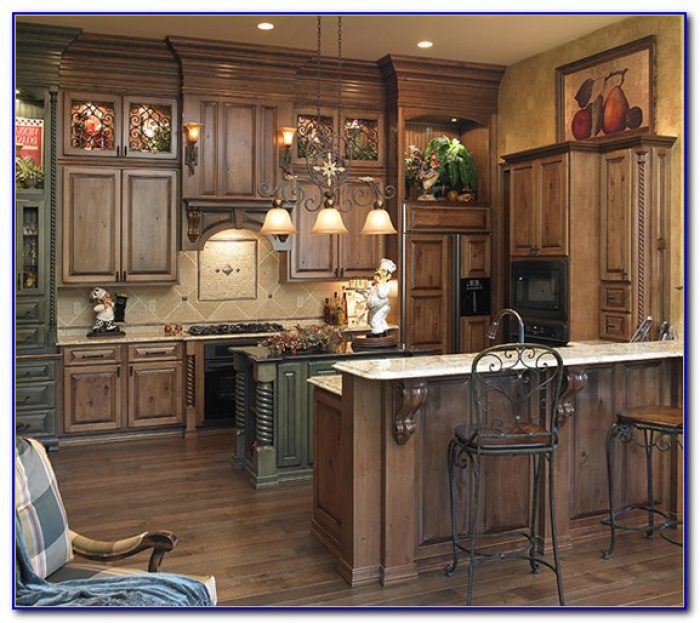Rustic Kitchen Cabinets White