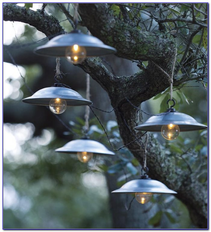 Solar Patio String Umbrella Lights