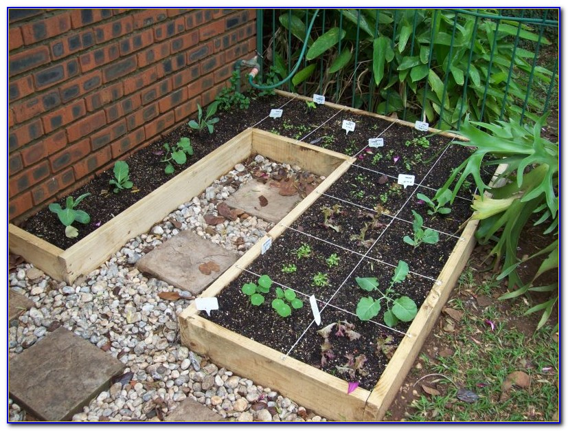 Square Foot Gardening Spacing Template