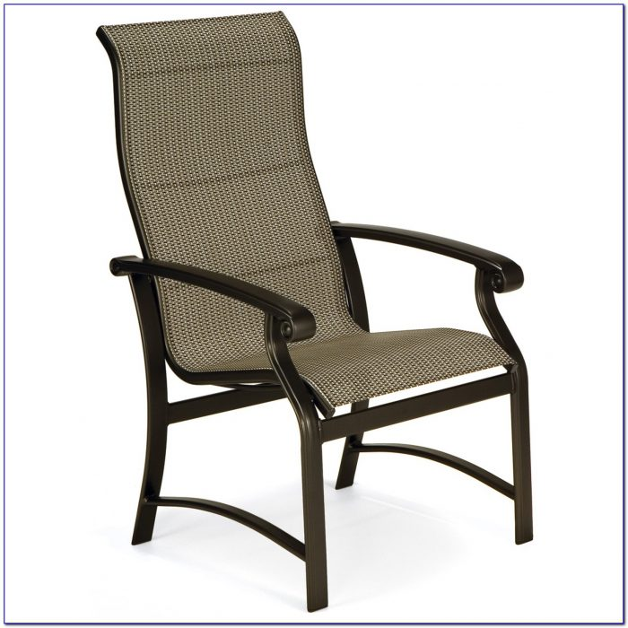 Stackable Sling Back Patio Chairs