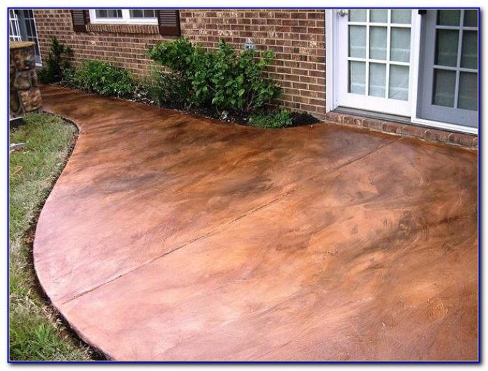 Staining Concrete Patio To Look Like Stone