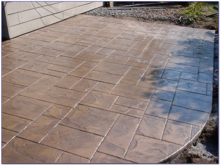 Stamped Concrete Patios With Fire Pits