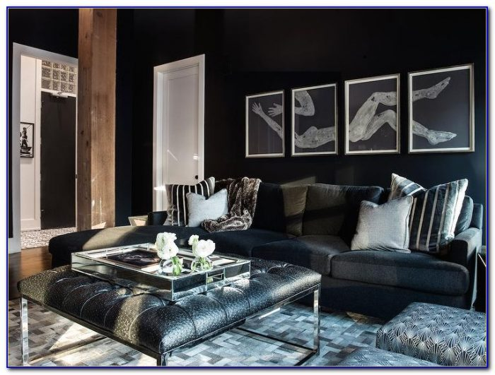Tufted Leather Living Room Set