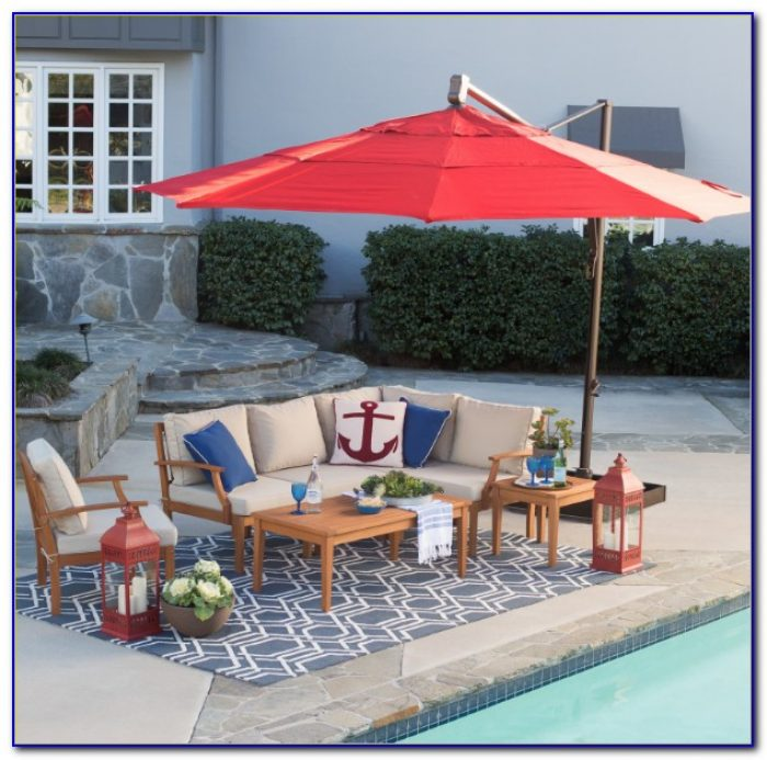13 Ft Rectangular Patio Umbrella