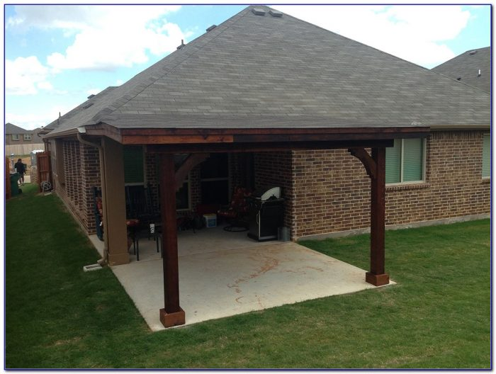 Attached Covered Patio To House