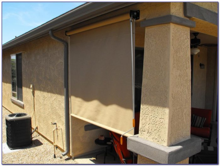 Bamboo Roll Up Patio Blinds