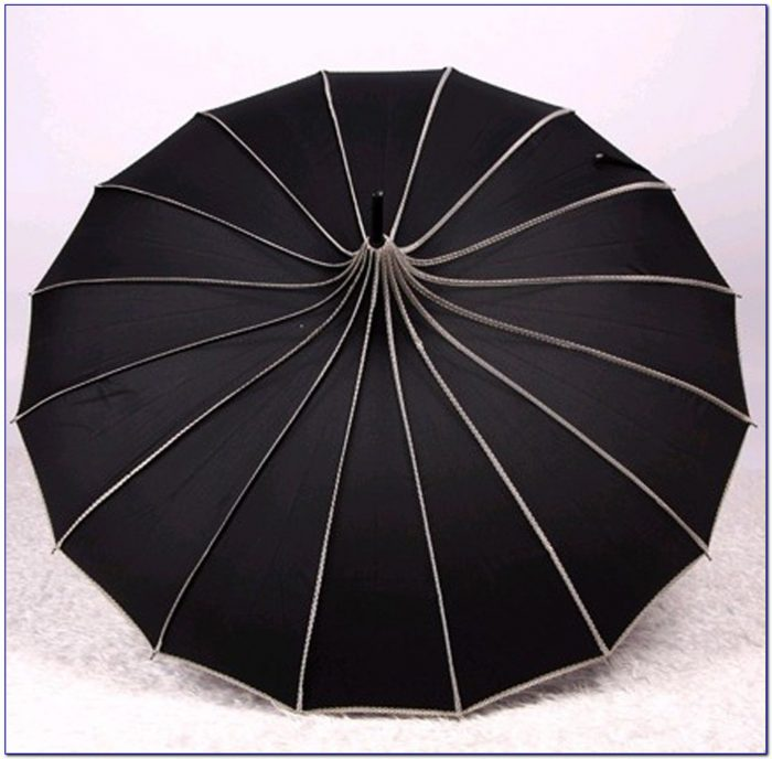 Black And White Pagoda Patio Umbrella