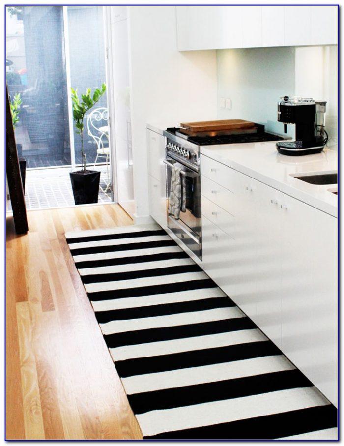 Black And White Striped Rug Runner Rugs Home Design Ideas