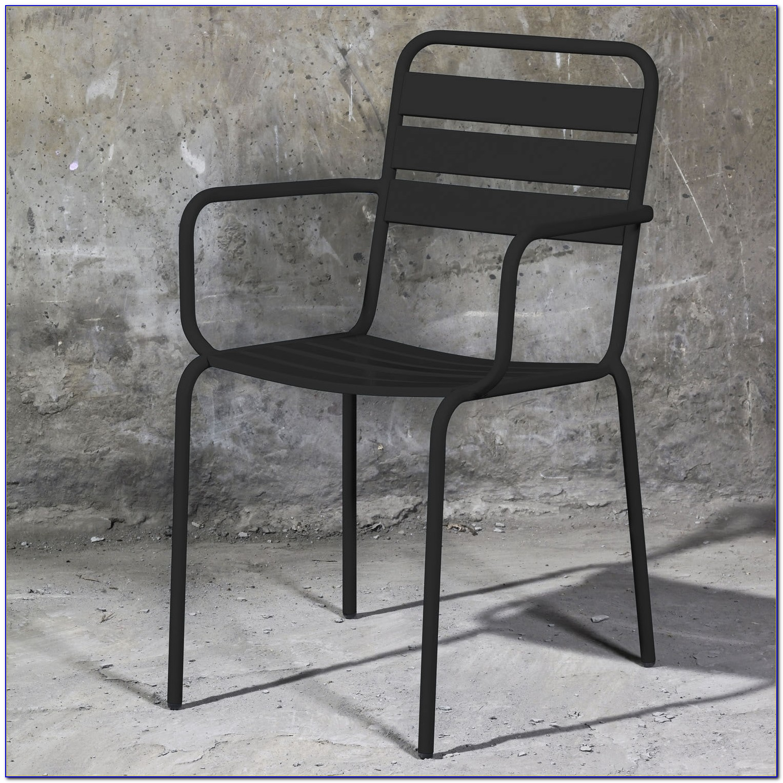 Black Metal Folding Patio Chairs