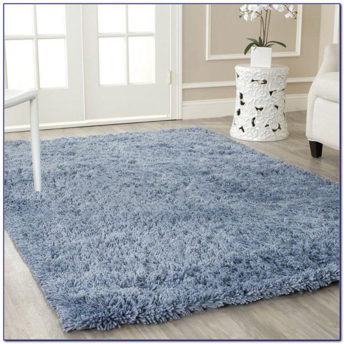 Blue Shag Rug