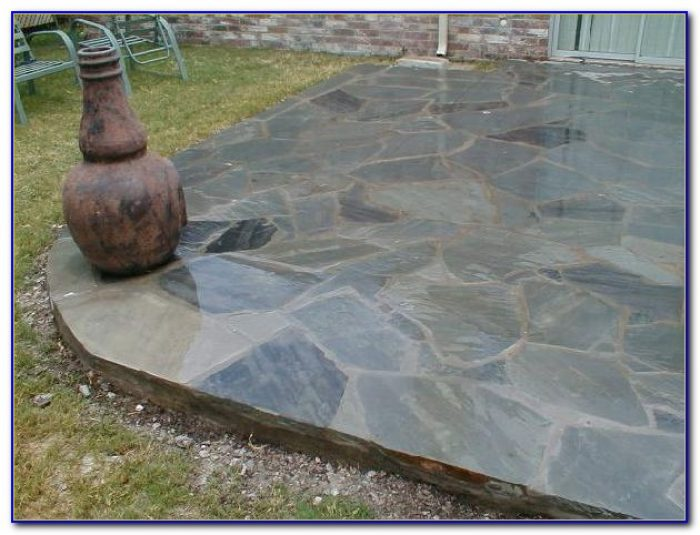 Blue Slate Stone Patio