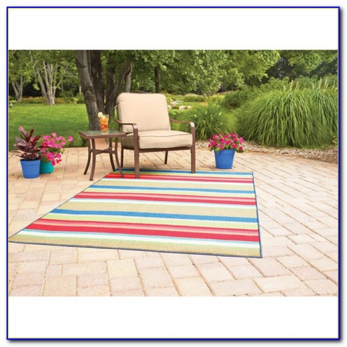 Bright Striped Outdoor Rugs