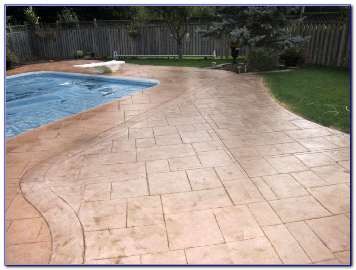 Concrete Patio Sealer Stamped
