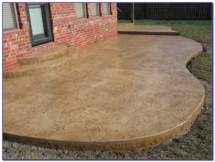 Concrete Patio Stain Or Paint
