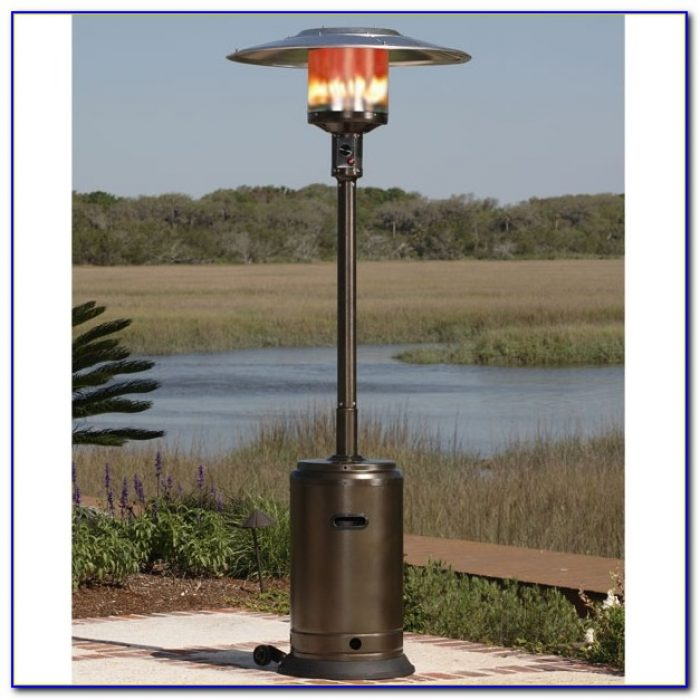 Fire Sense Commercial Patio Heater Unpainted Stainless Steel