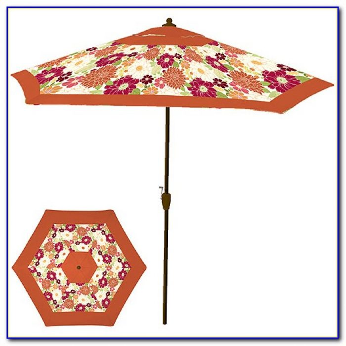 Floral Print Patio Umbrellas