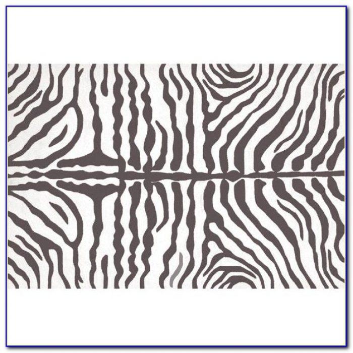 Grey Zebra Rug 5x8