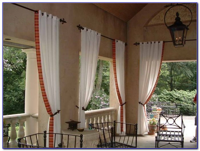 Indoor Patio Curtain Ideas