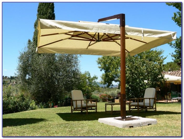 Large Fim Cantilever Patio Umbrella