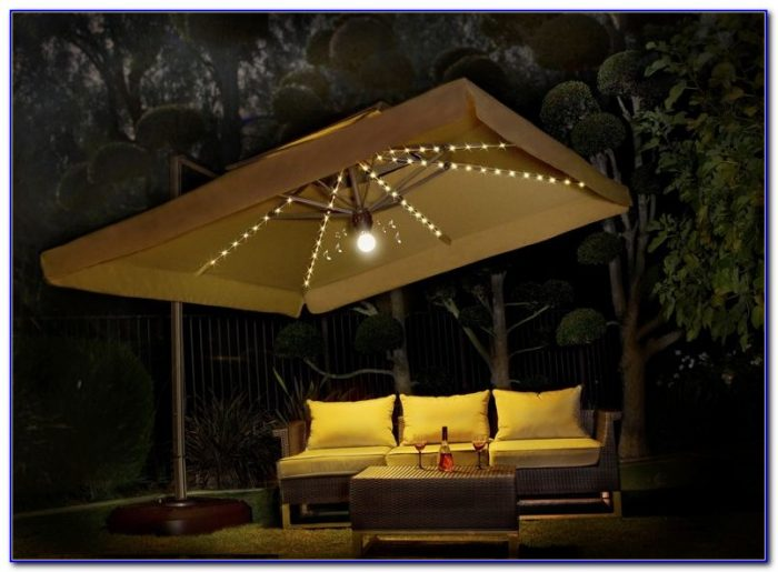 Large Square Offset Patio Umbrellas
