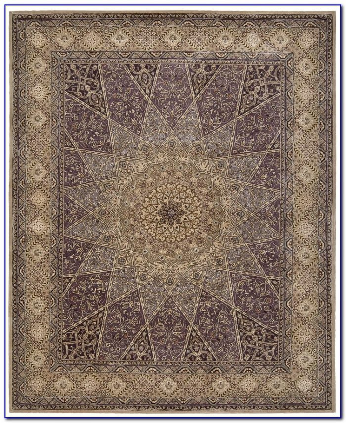 Lavender Floral Area Rugs