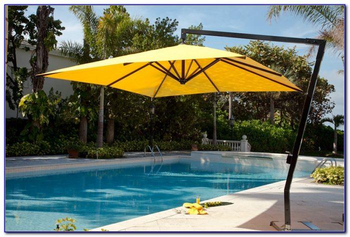 Offset Rectangular Patio Umbrellas