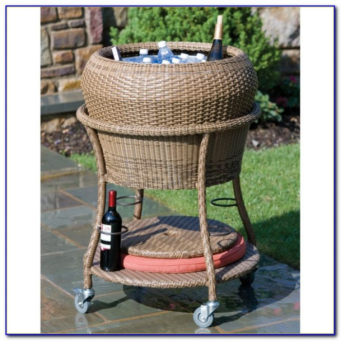 Patio Beverage Cooler Cart