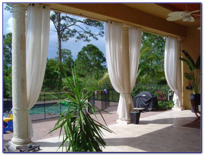 Patio Curtain Rod Ideas
