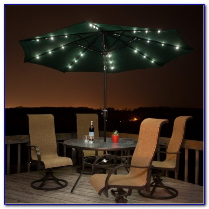 Patio Umbrella Solar Lights Tilt