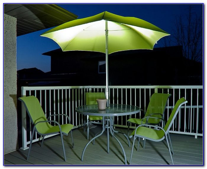 Patio Umbrella Solar String Lights