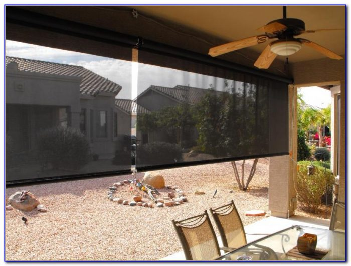 Plastic Roll Up Patio Blinds