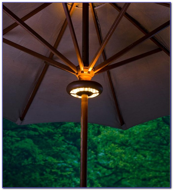 Rectangular Patio Umbrella Solar Lights