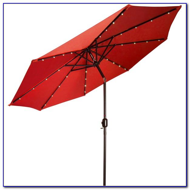 Rectangular Solar Powered Patio Umbrella
