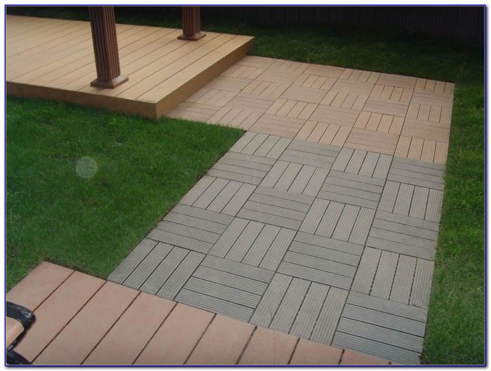 Recycled Plastic Patio Pavers