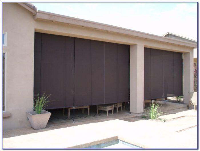 Roll Up Blinds Patio Doors