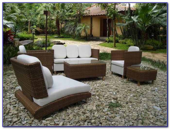 Sears Outdoor Patio Wicker Furniture Set