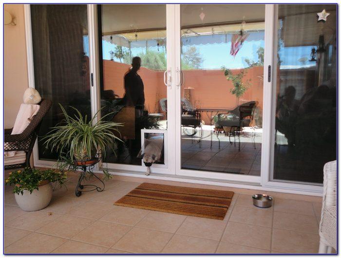 Sliding Patio Door With Dog Door Built In