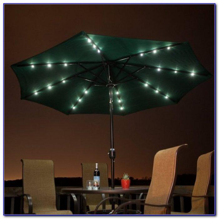 Solar Lighted Offset Patio Umbrella