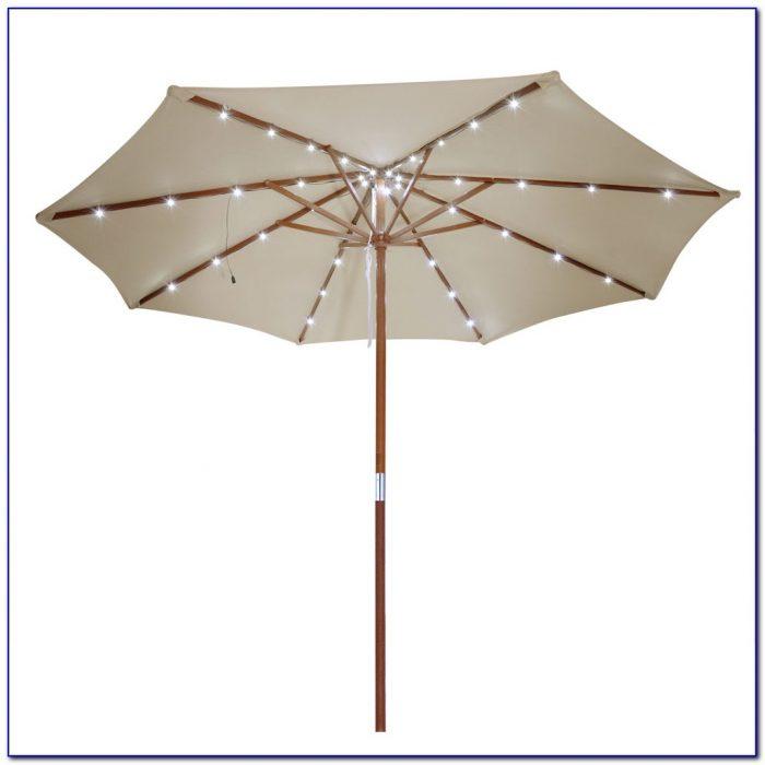 Solar Lighted Patio Umbrellas