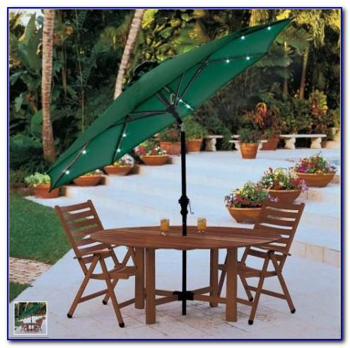 Solar Lighted Rectangular Patio Umbrella