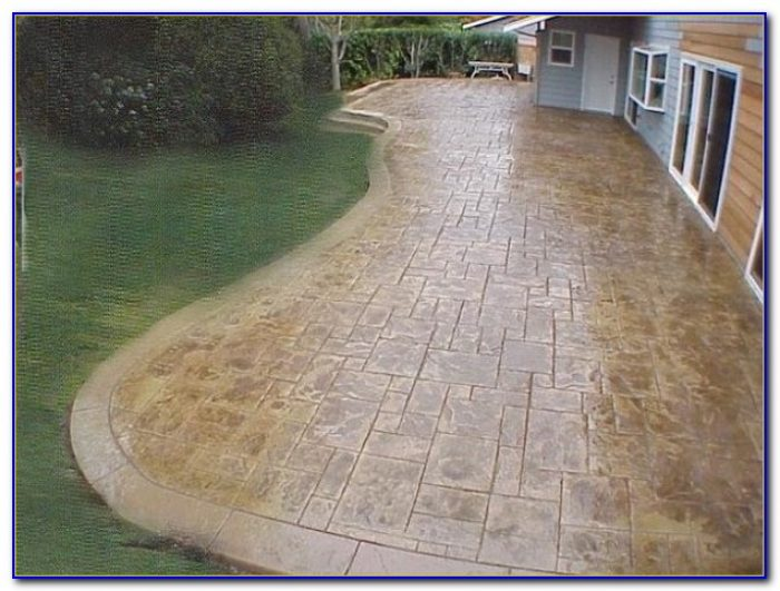 Stamped Concrete Patio Designs Color