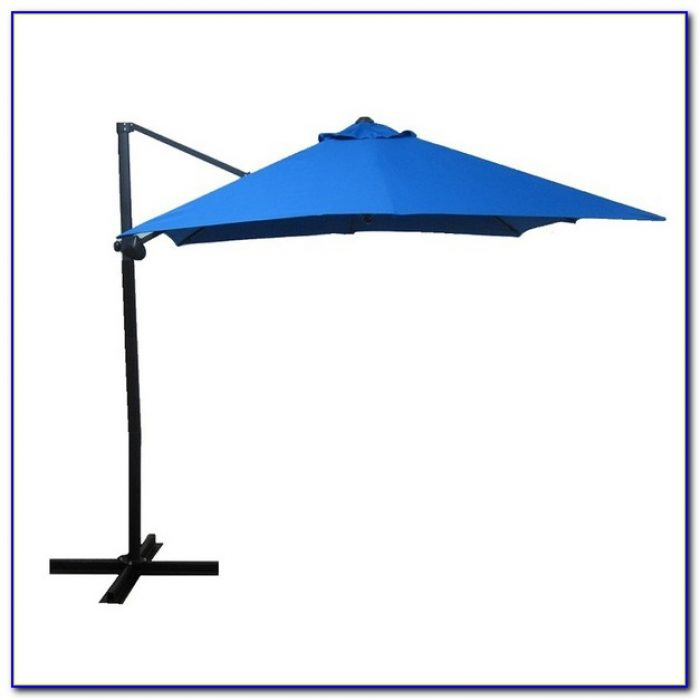 Threshold Square Offset Patio Umbrella Tan 9
